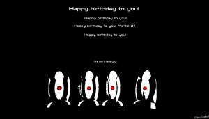 Portal 2 birthday: Turret choir by Ether-Orchyd