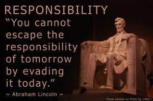 Quotes - Responsibility