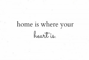 Home Is Where Your Heart Is Quote Your, home, is, quote and