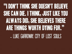 Jace Wayland Quotes City Of Lost Souls City of lost souls quote