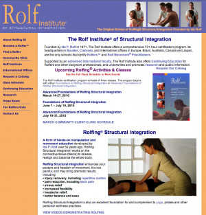 The Rolf Institute located in Boulder CO is the school that Ida Rolf