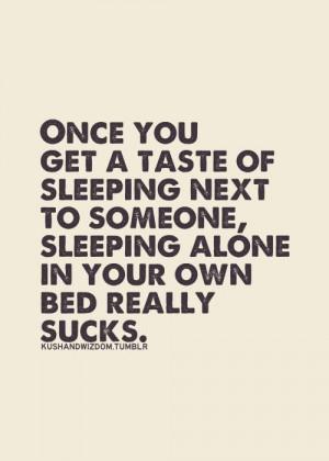 Sleeping next to you