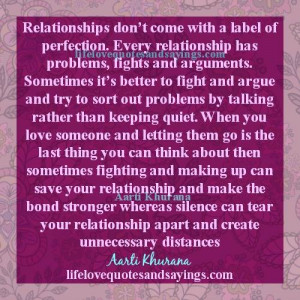 All Relationships Have Their Own Problems.