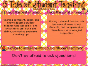 Advice from a Mentor Teacher to a Student Teacher: