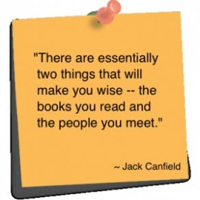 Speaking of Jack Canfield-I take a few minutes each day to read a bit ...