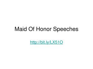Free Matron of Honor Speech http://www.docstoc.com/docs/34379946/Maid ...