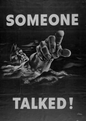 Someone talked!