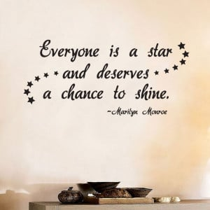 ... MONROE-Everyone-is-a-Star-Shine-Quote-Vinyl-Wall-Window-Decal-Sticker