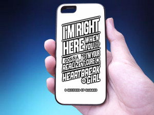 5sos heartbreak girl Lyrics Phone Case Back Cover for iPhone, iPod ...