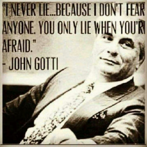 Mobster John Gotti is not my usual source for biblical commentary or ...