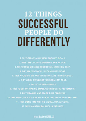 12 Things Successful People Do Differently | Motivation & Quotes ...