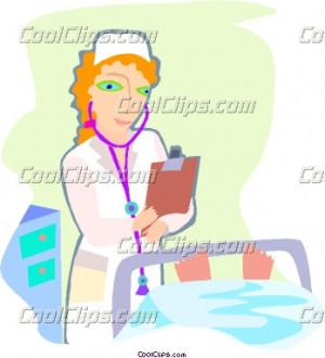 clip art nurse. nurse caring for a sick