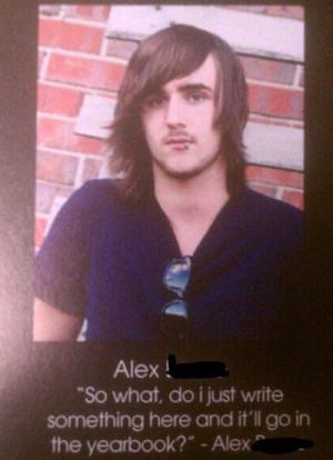 funny senior yearbook quotes anything here