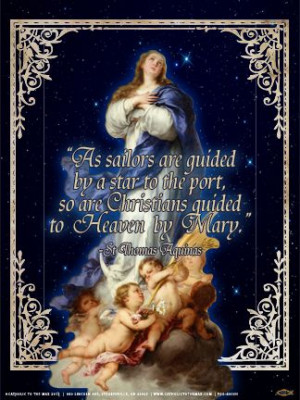 ... quotes | Immaculate Conception (St. Thomas Aquinas Quote) Poster