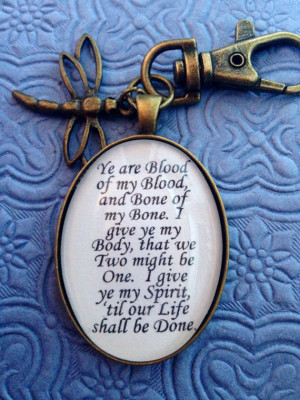 Outlander Quote Keychain by EnchantedElement on Etsy 8 99 Valentine