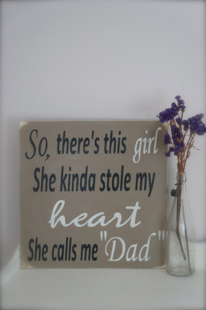 So There's This Girl, Wood Wall Art, Wood Sign, Nursery Art, Custom ...