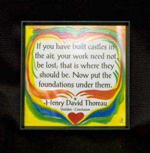 Heartful Art Magnet - Thoreau Quote: