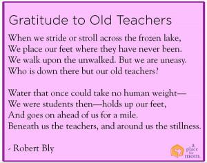 Poem: Gratitude to Old Teachers