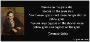 on the grass alas. Pigeons on the grass alas. Short longer grass ...