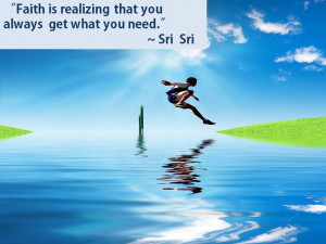 Here are some of the inspirational quotes by Sri Sri Ravi Shankar: