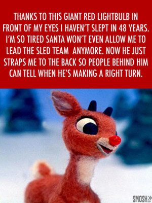 holiday greeting Rudolph red nosed reindeer