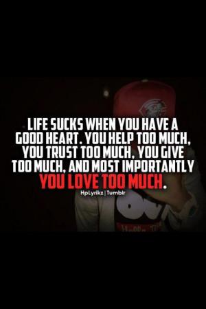 Rather have a good heart regardless