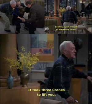 ... took 3 cranes to lift you.