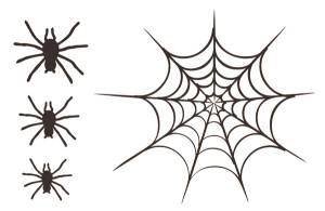 ... - Halloween Collection - Cardstock Laser Die Cut Pieces - Spider Web