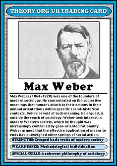 Max Weber - Theory.org.uk trading cards More