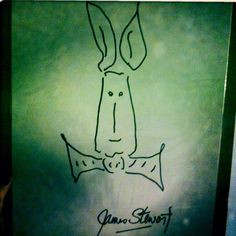 christmas gift to my little sister a drawing of harvey the rabbit ...