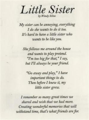 Happy Birthday Sister Poems Baby Sister