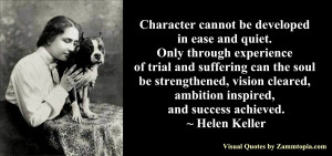 Helen Keller on Character