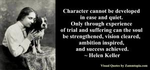 Helen Keller on Character