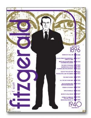 Scott Fitzgerald - Literary Poster