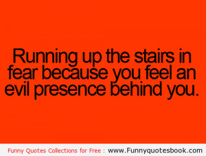 Running on stairs because of fair - Funny Quotes