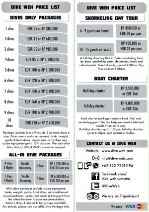 Our Packages amp Price List