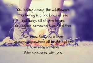 Tom Petty - Wildflowers: My Friend, Quote