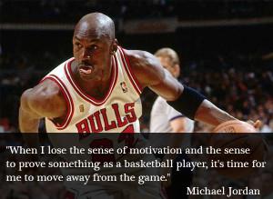 lose the sense of motivation