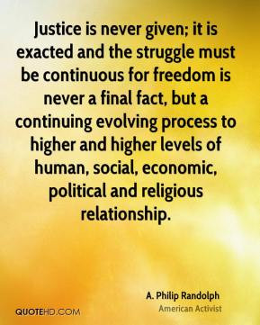 More A. Philip Randolph Quotes