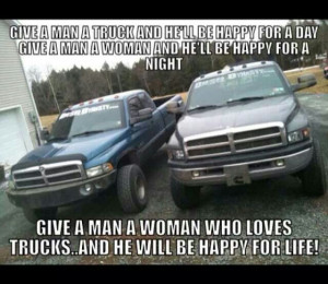 woman who loves trucks will make you happy for the rest of your life ...