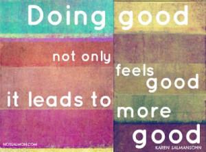 Doing good not only feels good…