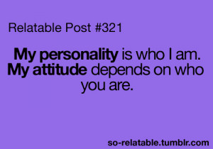 attitude, boy, girl, me, personality, purpur, quote, teenquote, text ...