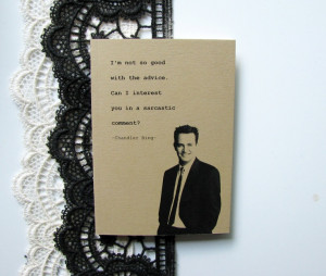 Chandler Bing quote notebook Friends Matthew Perry kraftpaper gift ...
