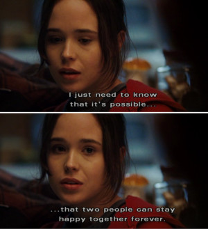 ellen page, juno, love, movie quotes, movies, quotes