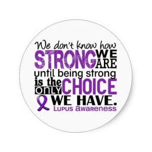 Lupus How Strong We Are Stickers