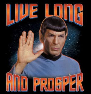 Star Trek Spock Tee Shirt: Live Long and Prosper - Adult, Ladies ...