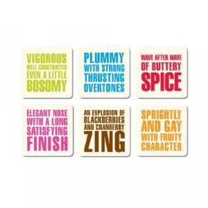 Bob's Your Uncle PP32 Wine Quotes Letterpress Coaster Set