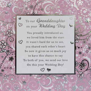 Our Granddaughter Card Large - 210mm x 210mm