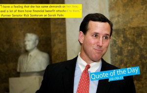 quote of the day sarah palin tagged palin quote of the day santorum ...