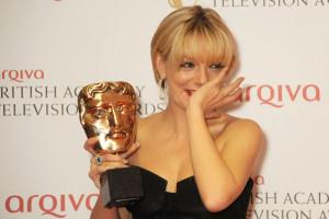 Sheridan Smith cries at the BAFTAs 2013